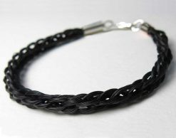 Gemosi handmade kumihimo braid horse hair bracelet