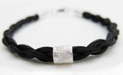 Spirit horse hair bracelet silver stardust bead