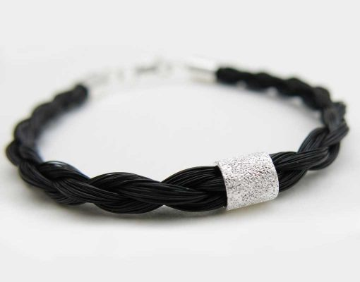 Spirit-horse-hair-bracelet-silver-stardust-bead2