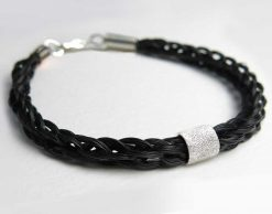 solace horse hair bracelet with stardust bead