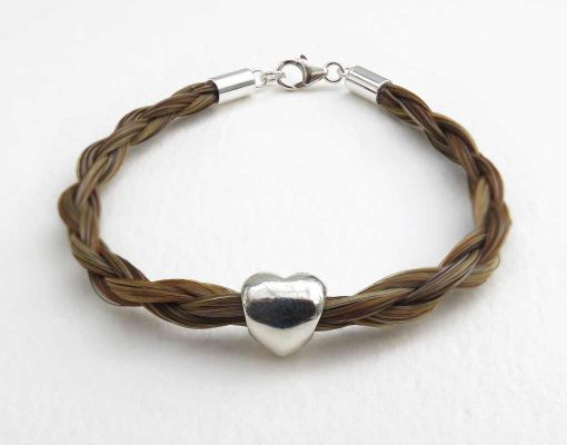 Gemosi Amor horse hair bracelet chestnut