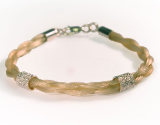 Gemosi Spirit Horse Hair Bracelet silver startdust bead