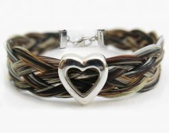 Gemosi Harmony Heart Horse Hair Bracelet