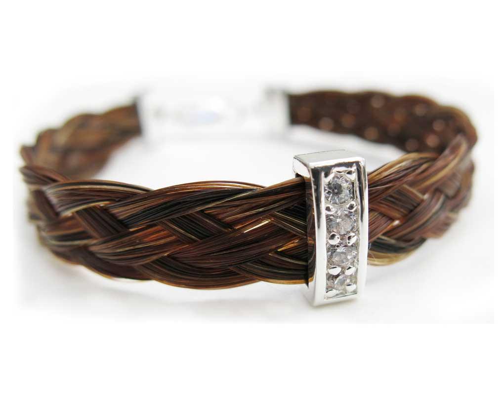 Gemosi Harmony bracelet with silver & crystals