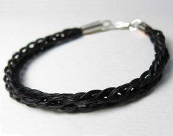 Gemosi handmade kumihimo braid horse hair bracelet