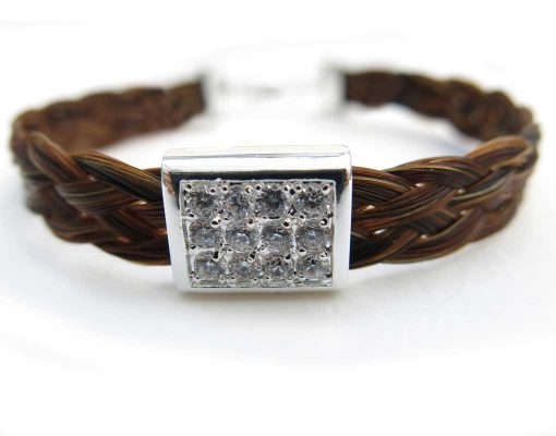 Gemosi Harmony Horse Hair Bracelet silver sparkle cube2