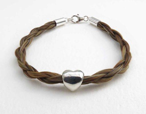 Gemosi Amor horse hair bracelet chestnut