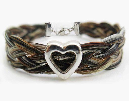Gemosi Harmony Heart Horse Hair Bracelet