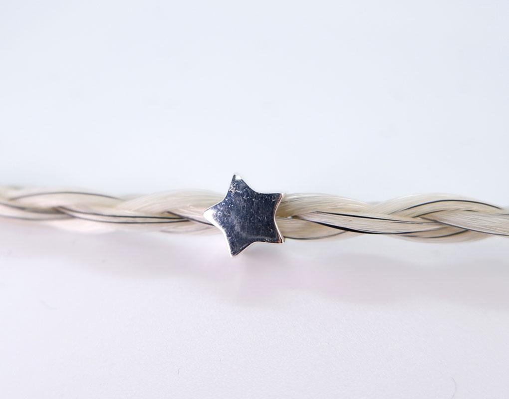 star horse hair bracelet